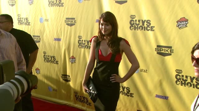 mary elizabeth winstead at the spike tv's guys' choice awards at radford studios in los angeles california on june 10 2007 - spike guys choice awards video stock e b–roll