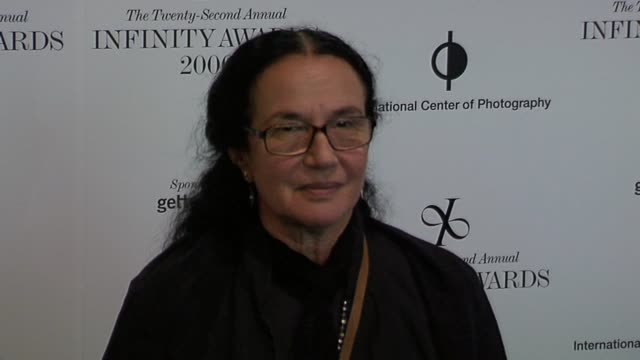 mary ellen mark at the the 22nd annual infinity awards, presented by the international center of photography at chelsea piers in new york, new york... - chelsea piers stock videos & royalty-free footage