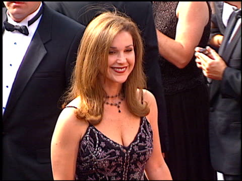 mary hart at the 1997 emmy awards arrivals at the pasadena civic auditorium in pasadena, california on september 14, 1997. - pasadena civic auditorium stock videos & royalty-free footage