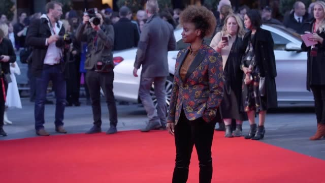 vídeos y material grabado en eventos de stock de mary j blige and carey mulligan join fellow stars of mudbound for the european premiere during the london film festival interviews with mary j blige... - mary carey