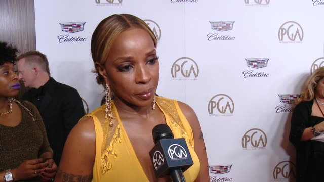 INTERVIEW Mary J Blige at 29th Annual Producers Guild Awards presented by Cadillac at The Beverly Hilton Hotel on January 20 2018 in Beverly Hills...