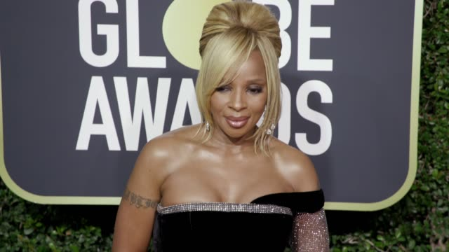 mary j. blige at the 75th annual golden globe awards at the beverly hilton hotel on january 07, 2018 in beverly hills, california. - golden globe galan bildbanksvideor och videomaterial från bakom kulisserna