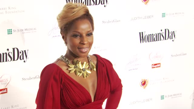 mary j. blige at the woman's day presents the seventh annual red dress awards at new york ny. - dress stock videos & royalty-free footage
