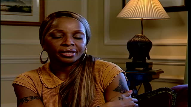 mary j blige interview mary j blige interview sot music i sing is therapy for me - music therapy stock videos & royalty-free footage
