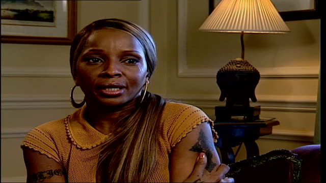 mary j blige interview mary j blige interview sot title of new album the breakthrough reflects where i am in my life now - album title stock videos and b-roll footage