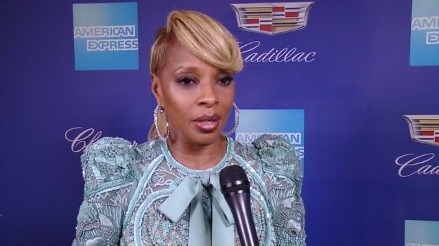 INTERVIEW Mary J Blige on being recognized for her action at the 29th Annual Palm Springs International Film Festival Awards Gala at Palm Springs...
