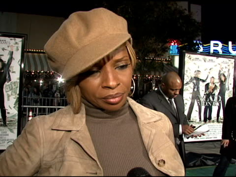 Mary J Blige on the event taking risks her number 1 album at the 'Mad Money' Premiere at the Mann Village Theatre in Westwood California on January 9...