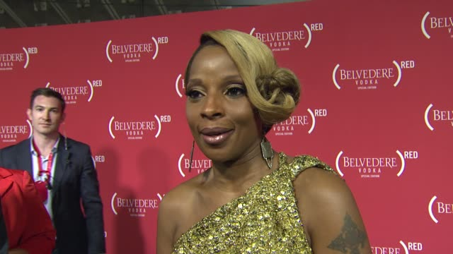 vidéos et rushes de mary j blige on why she wanted to support red, why it's important to give back and raise awareness for hiv/aids, what we can expect from her... - nfc