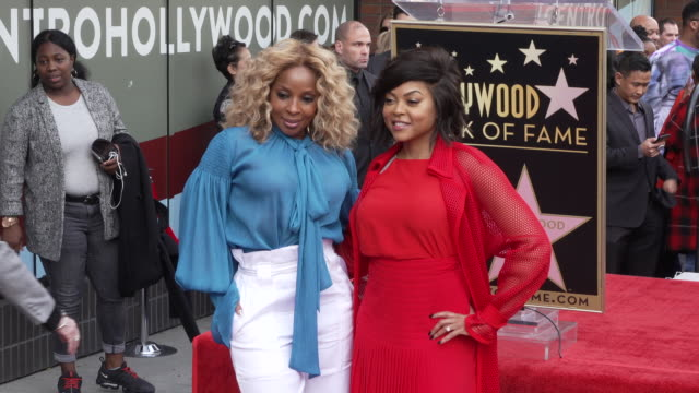 mary j. blige & taraji p. henson at taraji p. henson honored with a star on the hollywood walk of fame on january 28, 2019 in hollywood, california. - walk of fame stock videos & royalty-free footage