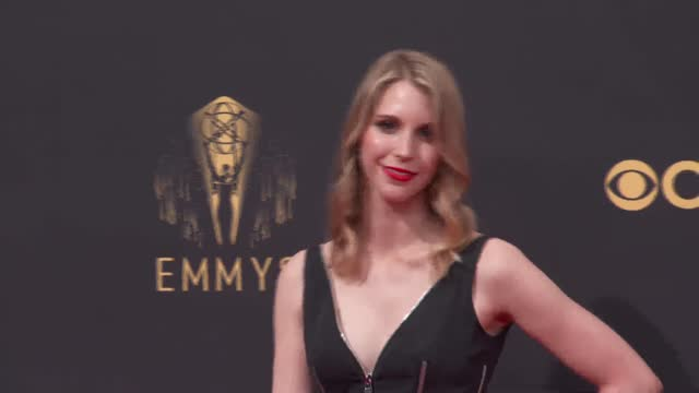 mary livanos arrives to the 73rd annual primetime emmy awards at l.a. live on september 19, 2021 in los angeles, california. - emmy awards stock videos & royalty-free footage