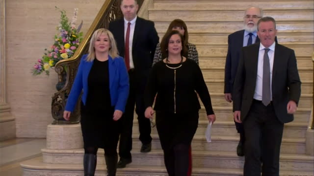 mary lou mcdonald sinn fein leader says after her meeting with theresa may at stormont she came here with no plan no credibility and frankly no honour - sinn fein stock videos & royalty-free footage