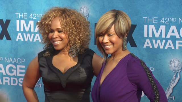 mary mary at the 42nd naacp image awards at los angeles ca. - naacp stock videos & royalty-free footage