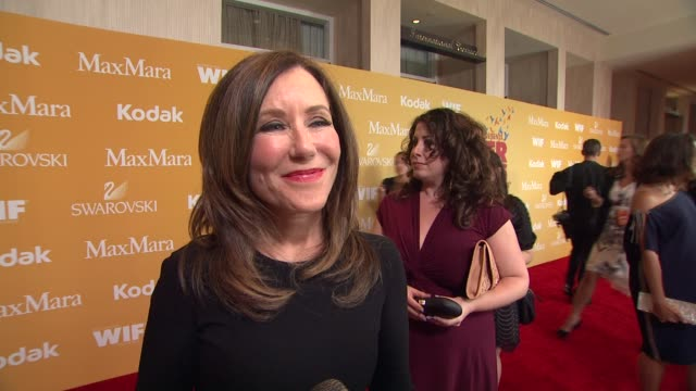 mary mcdonnell on why she wanted to celebrate wif why bonnie hammer deserves the honor and why its important to empower woman at the 2012 women in... - the beverly hilton hotel stock videos & royalty-free footage