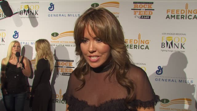 mary murphy on being a part of the night, what performance she's most looking forward to at the 'rock a little, feed a lot' benefit concert at los... - benefit concert stock videos & royalty-free footage