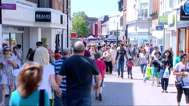 mary portas faces criticism over high street revival plan; date / location unknown: ext various shots people along in high streets - revival stock videos & royalty-free footage