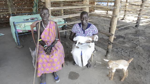 brac project, mary sebit (28), goat herder. - ブラック島点の映像素材/bロール