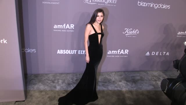 Mary Snow Meredith Ostrom Praya Lundberg and more on the red carpet of the 2018 amfAR Gala New York at Cipriani Wall Street New York City NY USA on...