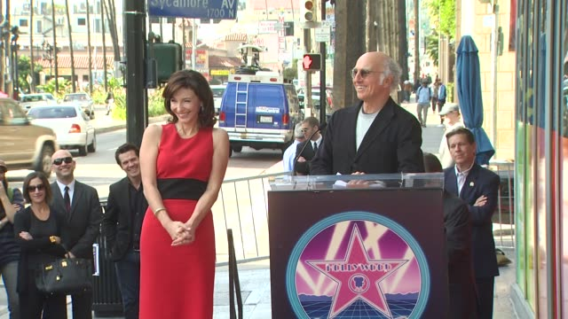 mary steenburgen and larry david at the mary steenburgen honored with a star on the hollywood walk of fame at hollywood ca - mary steenburgen stock videos & royalty-free footage