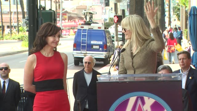 mary steenburgen and laura dern at the mary steenburgen honored with a star on the hollywood walk of fame at hollywood ca - mary steenburgen stock videos & royalty-free footage