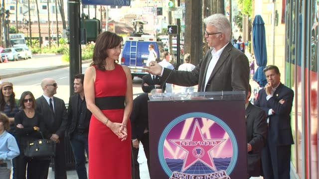 mary steenburgen and ted danson at the mary steenburgen honored with a star on the hollywood walk of fame at hollywood ca - mary steenburgen stock videos & royalty-free footage