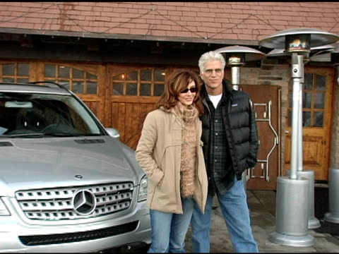 mary steenburgen and ted danson with the mercedes benz m class at the 2005 park city mercedes benz at the motorola lodge at motorola lodge in park... - motorola stock videos & royalty-free footage