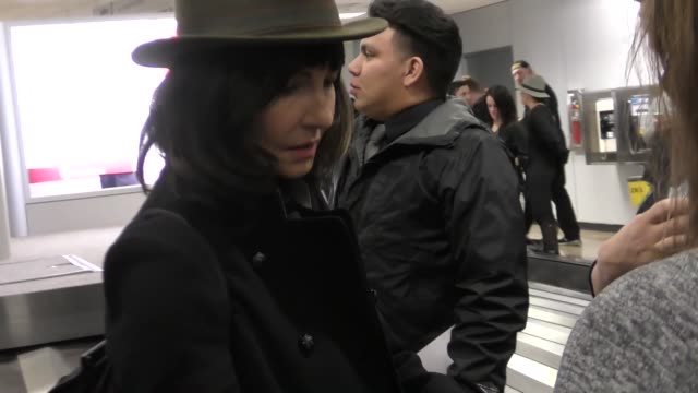 mary steenburgen arriving to sundance at salt lake city airport in celebrity sightings in salt lake city ut - mary steenburgen stock videos & royalty-free footage