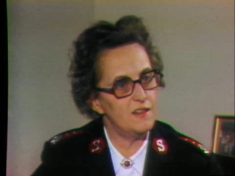 mary vernor of the salvation army comments on the loss of surplus items available and having to serve fewer people or find new funding. - salvation army stock videos & royalty-free footage