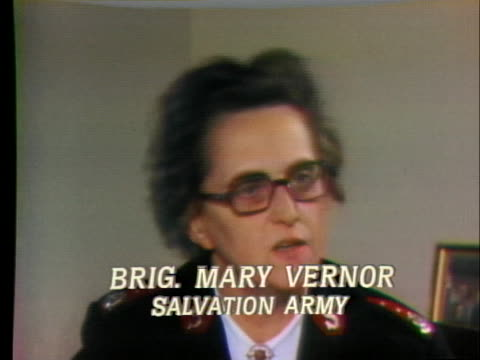 mary vernor of the salvation army comments on the loss of surplus items available. - salvation army stock videos & royalty-free footage