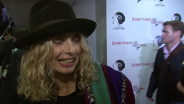 maryam d'abo a former bond girl on james being mysterious at everything or nothing the untold story of 007 at odeon leicester square on october 01... - bond girl fictional character stock videos & royalty-free footage