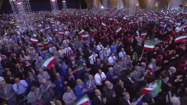 maryam rajavi addressed her greeting at nowruz celebration the iranian new year which was held at tirana albania on march 20 2017 with pmoi members... - tirana stock videos and b-roll footage