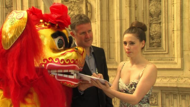 MaryJess Leaverland head of Decca Records Tom Lewis join forces as MaryJess signs to the Decca label with the help of a Chinese Lion MaryJess...