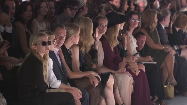 MaryKate Olsen Ashley Olsen Melissa George attend the J Mendel Spring 2012 during MercedesBenz Fashion Week Spring 2012 at the J Mendel Spring 2012...