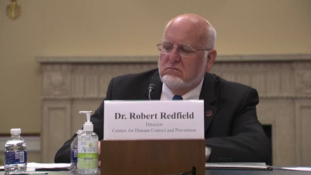 stockvideo's en b-roll-footage met maryland congressman andy harris asks cdc director robert redfield at a house appropriations subcommittee on labor and health oversight hearing that... - politics and government