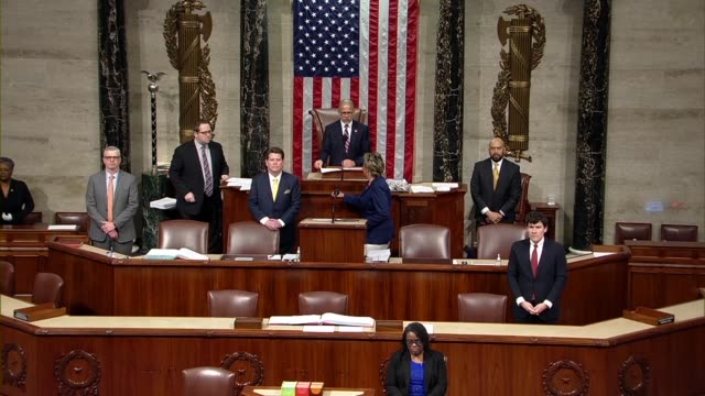 maryland congressman anthony brown gavels in a session of the house of representatives before three hours of debate on the cares act to deal with... - disegno di legge video stock e b–roll
