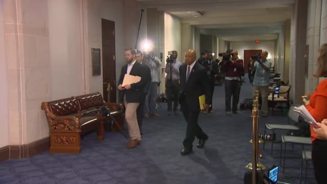 maryland congressman elijah cummings arrives on capitol hill for an interview by members and staff of the house select committee on benghazi with... - huma abedin hillary clinton stock videos & royalty-free footage