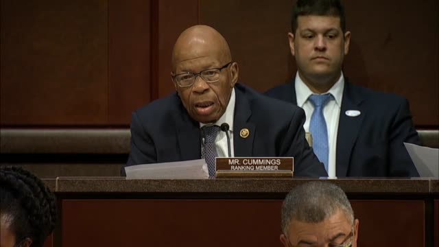 maryland congressman elijah cummings asks justice department inspector general michael horwitz at a joint house hearing on 2016 investigations if the... - michael horowitz stock videos & royalty-free footage