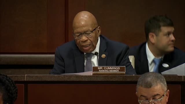 maryland congressman elijah cummings asks justice department inspector general michael horowitz at a joint house hearing on 2016 investigations by... - michael horowitz stock videos & royalty-free footage