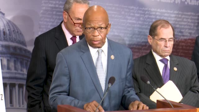 maryland congressman elijah cummings tells reporters at a news conference hours after justice department inspector general michael horowitz released... - michael horowitz stock videos & royalty-free footage