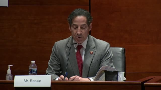 maryland congressman jamie raskin tells attorney general bill barr at a house judiciary committee hearing that he lost motions for emergency... - stay at home order stock videos & royalty-free footage