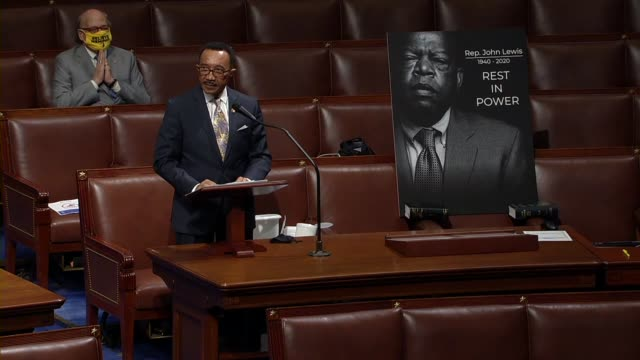 maryland congressman kweisi mfume says during floor time for speeches in memoriam to civil rights icon john lewis that he and lewis were sworn in... - martin luther: his life and time点の映像素材/bロール