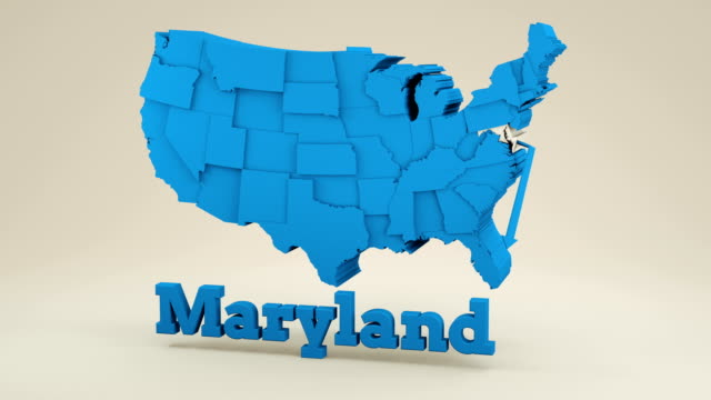 maryland map - maryland us state stock videos & royalty-free footage