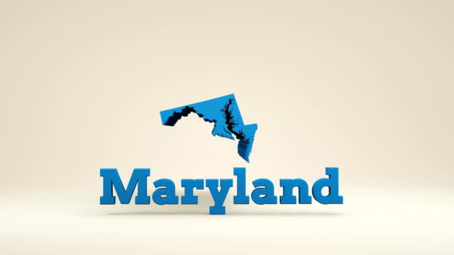 maryland map - maryland us state stock videos and b-roll footage