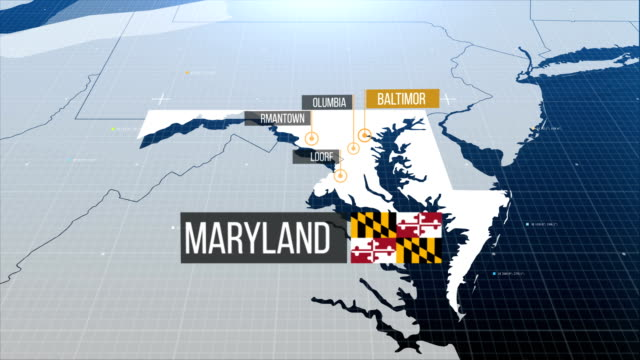 Maryland  map with label then with out label