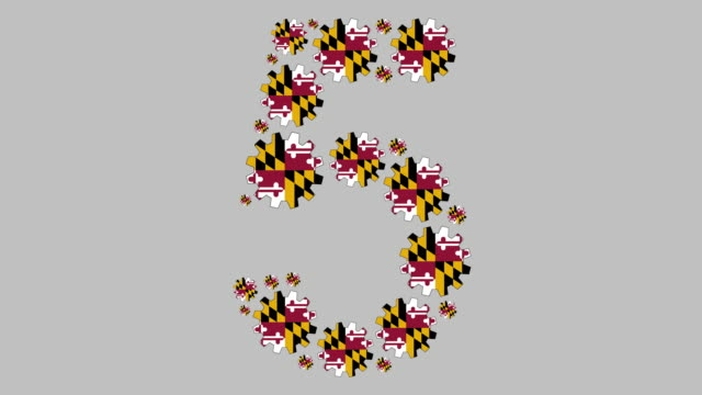 maryland number five - maryland us state stock videos & royalty-free footage