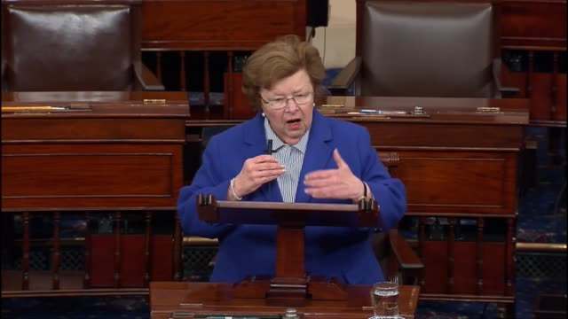 maryland senator barbara mikulski engages in a debate over competing proposals to fund a federal response to the outbreak of the zika virus saying... - dime stock videos and b-roll footage