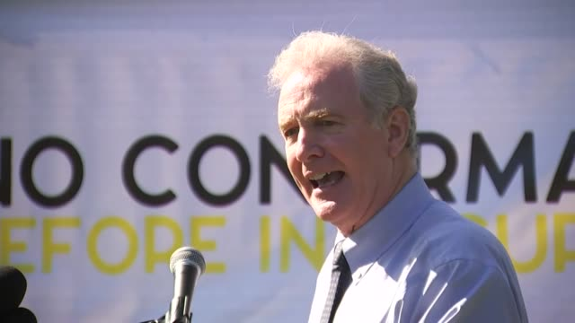 maryland senator chris van hollen tells opponents of the supreme court nomination of seventh circuit judge amy coney barrett at a rally on the... - enacting stock videos & royalty-free footage