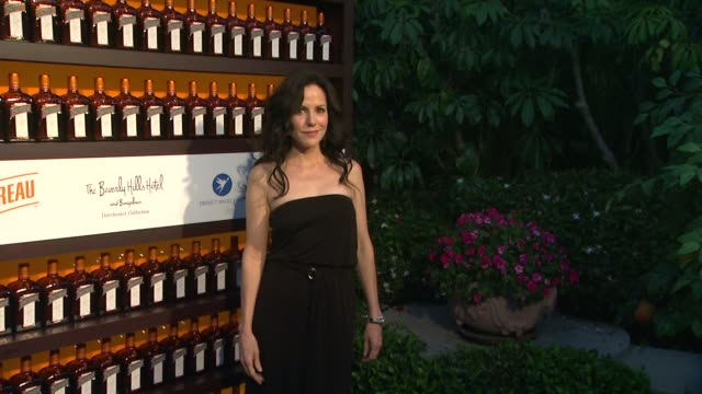 marylouise parker at cointreau and dita von teese launch cointreau poolside soirees in celebration of the beverly hills hotel's 100th anniversary in... - beverly hills hotel stock videos and b-roll footage