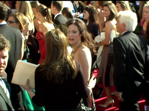 vídeos y material grabado en eventos de stock de mary-louise parker at the 2004 primetime emmy awards - arrival interviews at the shrine auditorium in los angeles, california on september 19, 2004. - premio emmy anual primetime