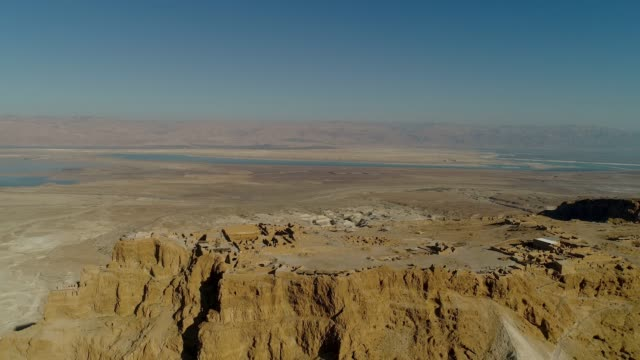 masada, aerial view of the unesco world heritage site, israel - ancient stock videos & royalty-free footage