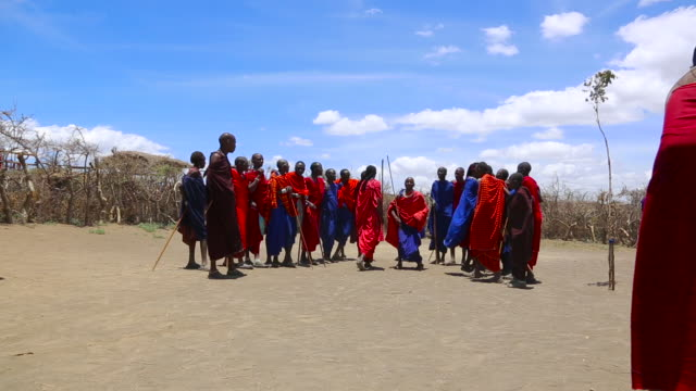 masai wariors - tanzania stock videos & royalty-free footage